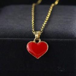 Lantisor dama auriu cu model inima superb