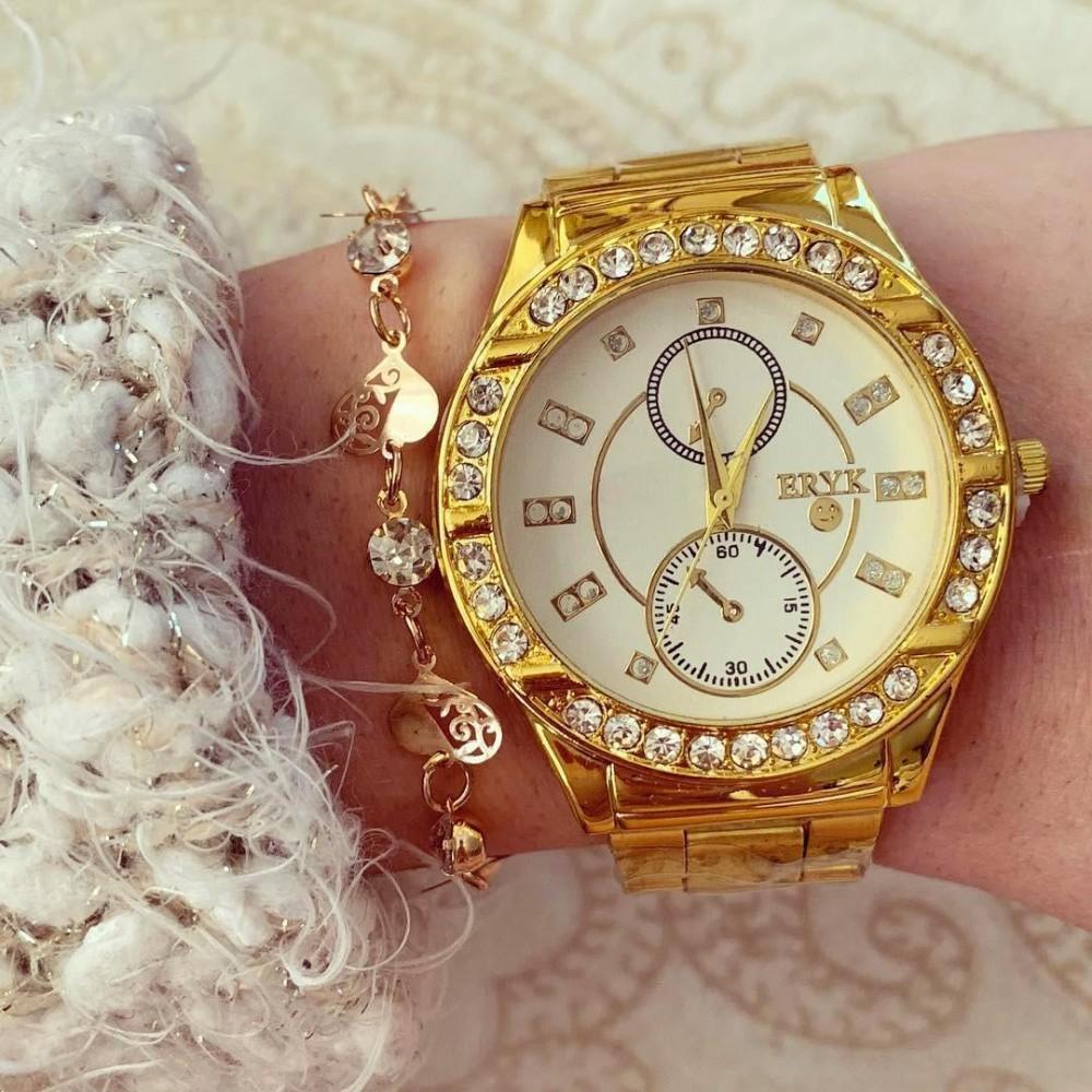 Ceas elegant dama auriu