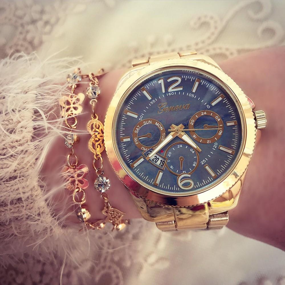 Ceas dama auriu elegant Geneva superb