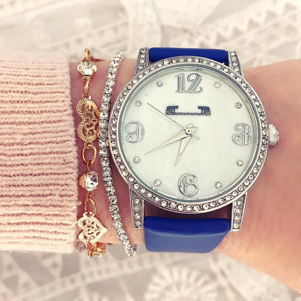 Ceas dama albastru elegant Matteo Ferari premium