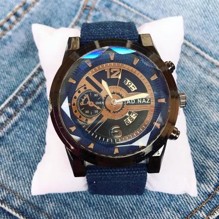Ceas barbatesc casual albastru din material premium