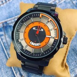 Ceas barbatesc negru elegant clasic din material premium