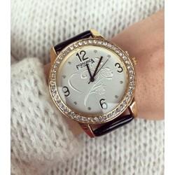 Ceas dama negru cu cifre arabe elegant