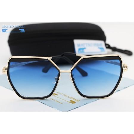 Ochelari de soare dama albastri originali Matteo Ferari lentila polarizata