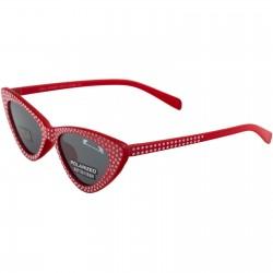 Ochelari de soare rosii cu pietricele cat eyes Matteo Ferari