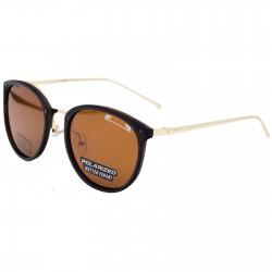 Ochelari de soare dama negri aurii originali Matteo Ferari lentila polarizata