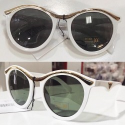 Ochelari de soare dama albi originali Matteo Ferari lentila polarizata