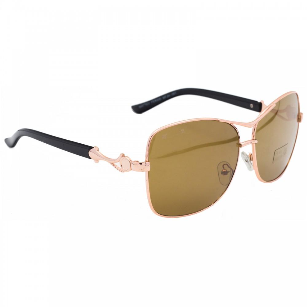 Ochelari de soare dama aurii originali Matteo Ferari lentila polarizata