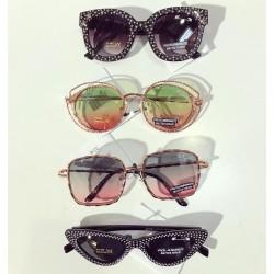 Ochelari de soare dama negri cu pietricele originali Matteo Ferari lentila polarizata