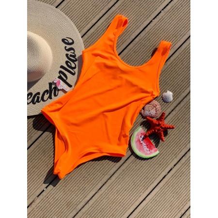 Body dama scurt orange pentru vara