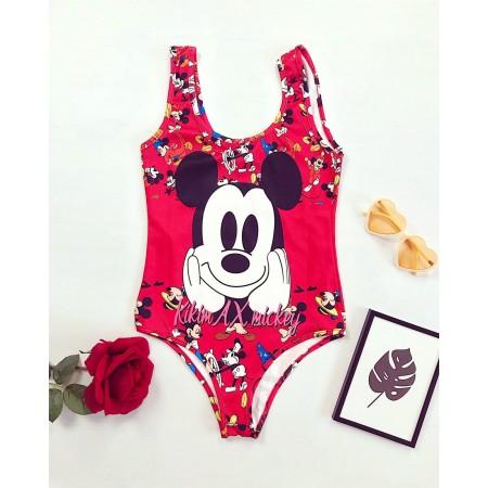 Body dama rosu cu imprimeu Mickey