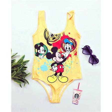 Body dama galben cu imprimeu personaje Disney