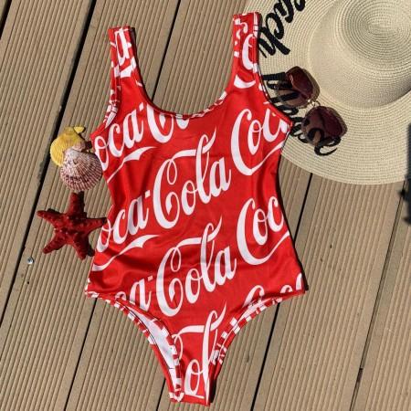 Body dama pentru vara cu imprimeu Cola