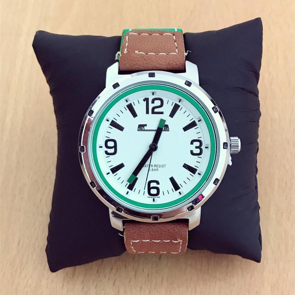 Ceas barbatesc sport verde-maro material premium