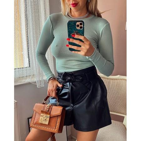 Bluza dama verde pal din material premium