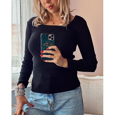 Bluza dama neagra universala din bumbac