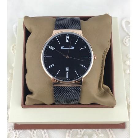 Ceas barbatesc elegant negru din material premium