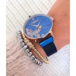 Ceas dama albastru cu sistem de inchidere magnet