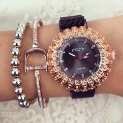 Ceas dama negru magnet elegant