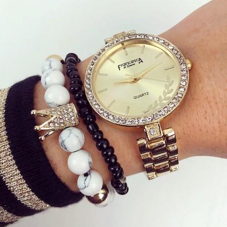 Ceas dama auriu elegant premium