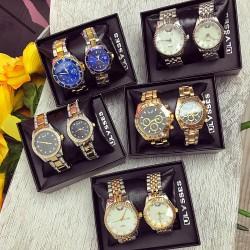 Set CADOU Ceasuri El & Ea culoare auriu-argintiu + Cutie inclusa