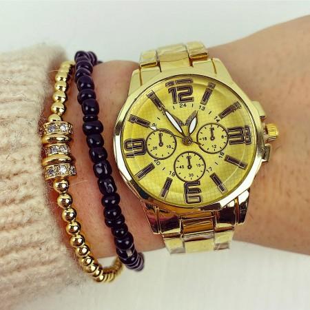 Ceas dama elegant clasic auriu
