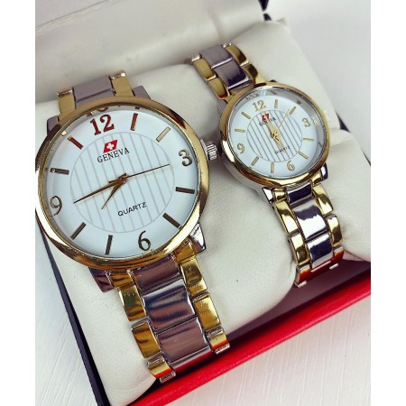 Set CADOU Ceasuri El & Ea culoare argintiu-auriu + Cutie inclusa