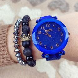Ceas dama albastru elegant cu sistem magnetic