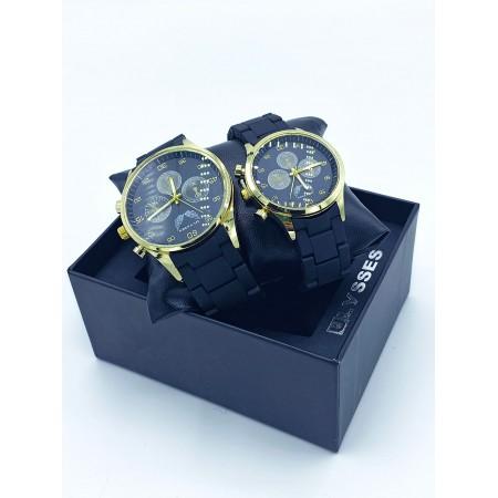 Set CADOU Ceasuri El & Ea culoare negru cu auriu