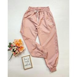 Pantaloni dama casual-sport fas roz Angel