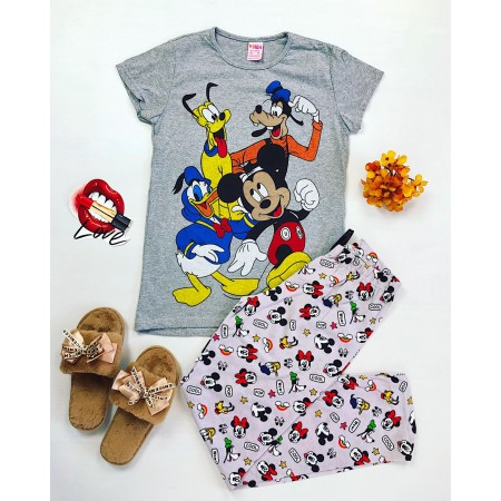Pijama dama lunga cu imprimeu Disney