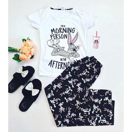 Pijama dama lunga cu imprimeu Bugs Bunny