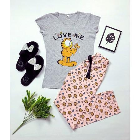 Pijama dama lunga cu imprimeu superb Garfield