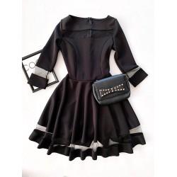 Rochie scurta eleganta de seara neagra cloche