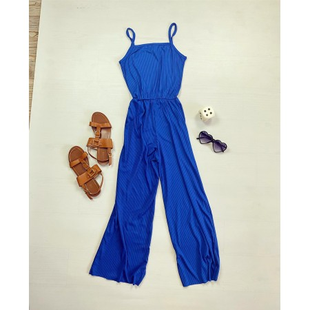 Salopeta dama lunga casual albastra
