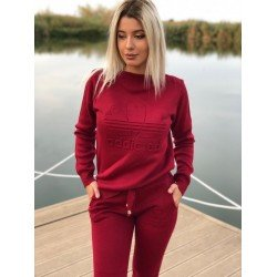 Trening dama visiniu din tricot cu imprimeu Addicted