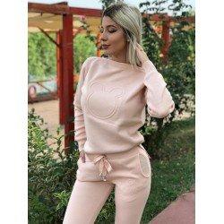 Trening dama casual sport roz prafuit tricotat