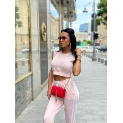 Compleu dama roz din bumbac premium pentru vara