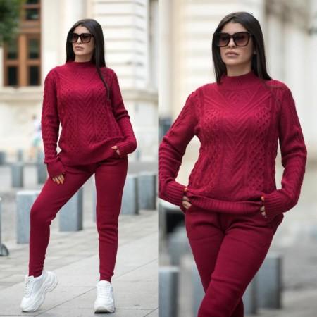 Trening dama visiniu din tricot gros