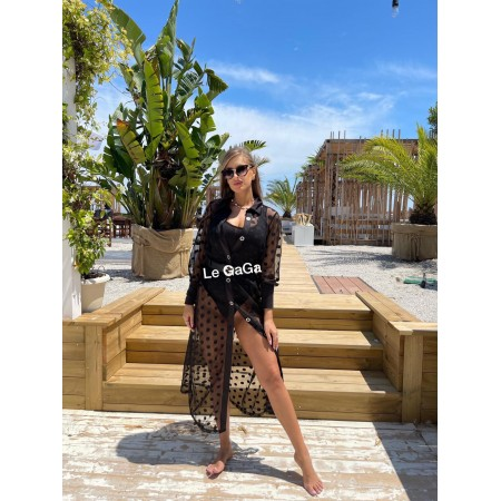 Set negru dama plaja Rochie + Body casual elegant