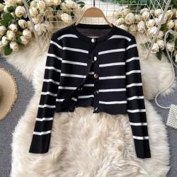 Set dama tricotat Negru alcatuit din Rochie+Bluza