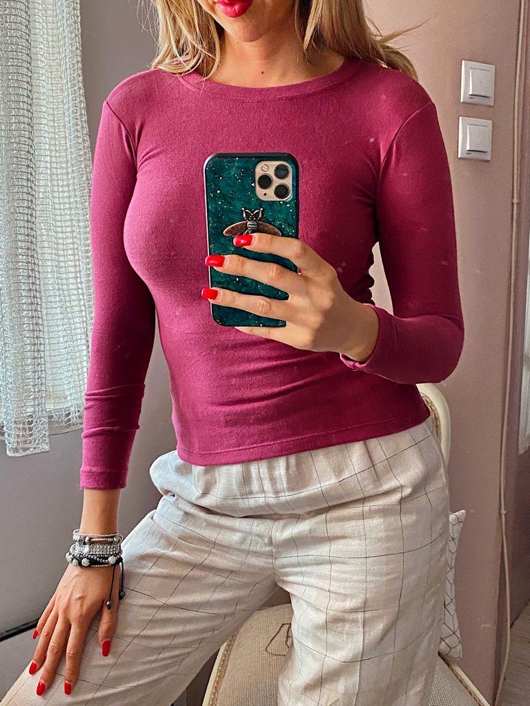 Bluza dama magenta din material premium