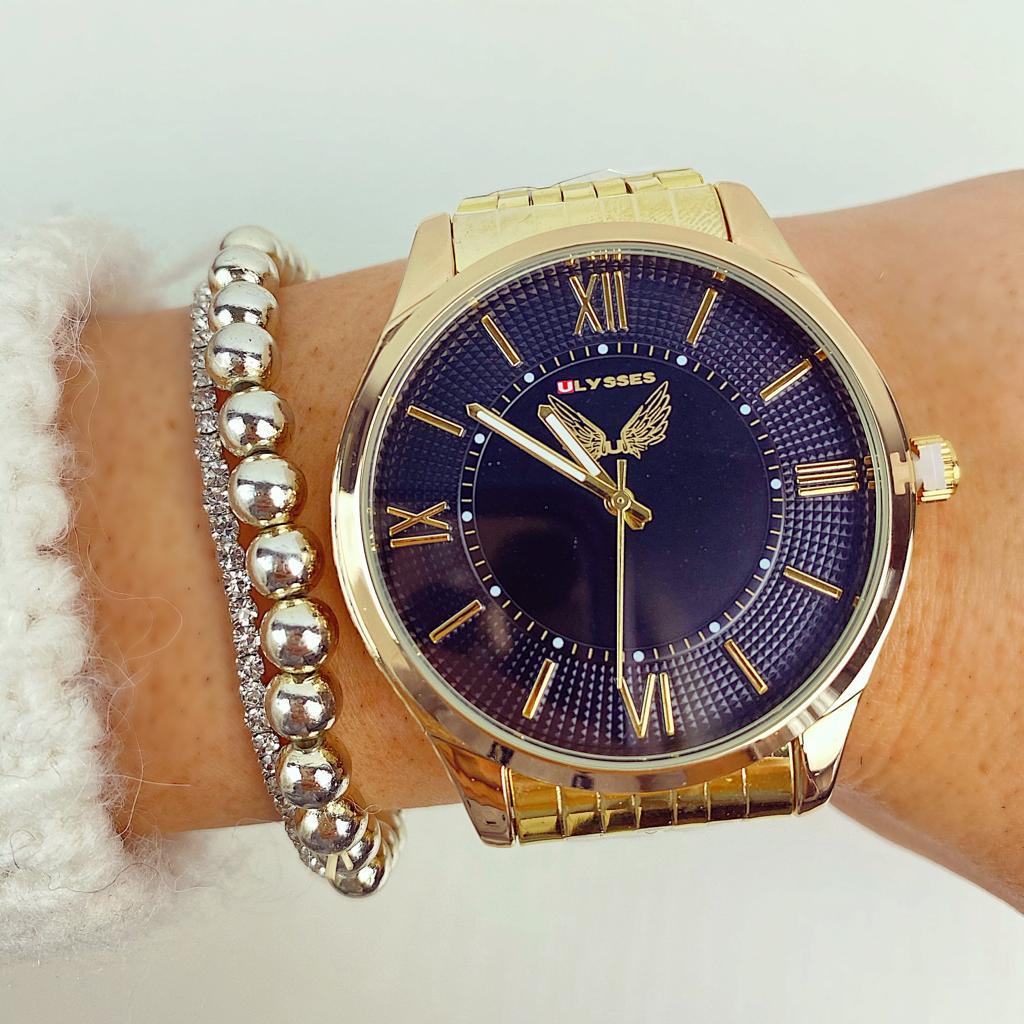 Ceas dama casual elegant auriu