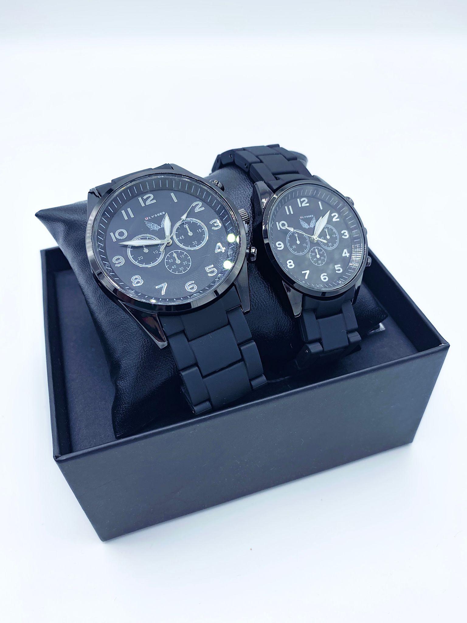 Set CADOU Ceasuri El & Ea culoare argintiu-negru