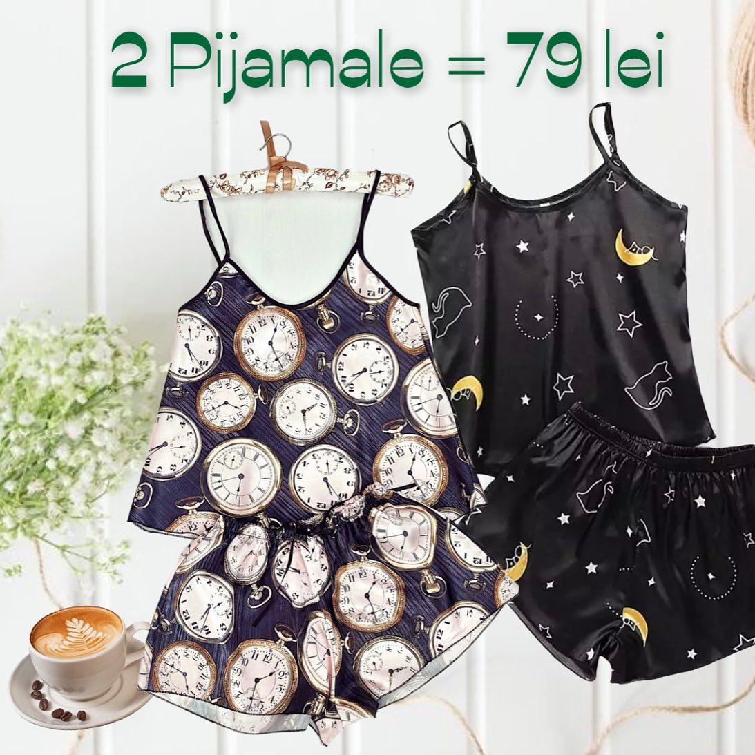 🤗 Noua ne plac foarte mult pijamalele din satin, care iti confera o comoditate sporita, mai ales ca avem atatea modele cu super culori 🎈❤️ @maroko.ro Shop online the best #pajamas