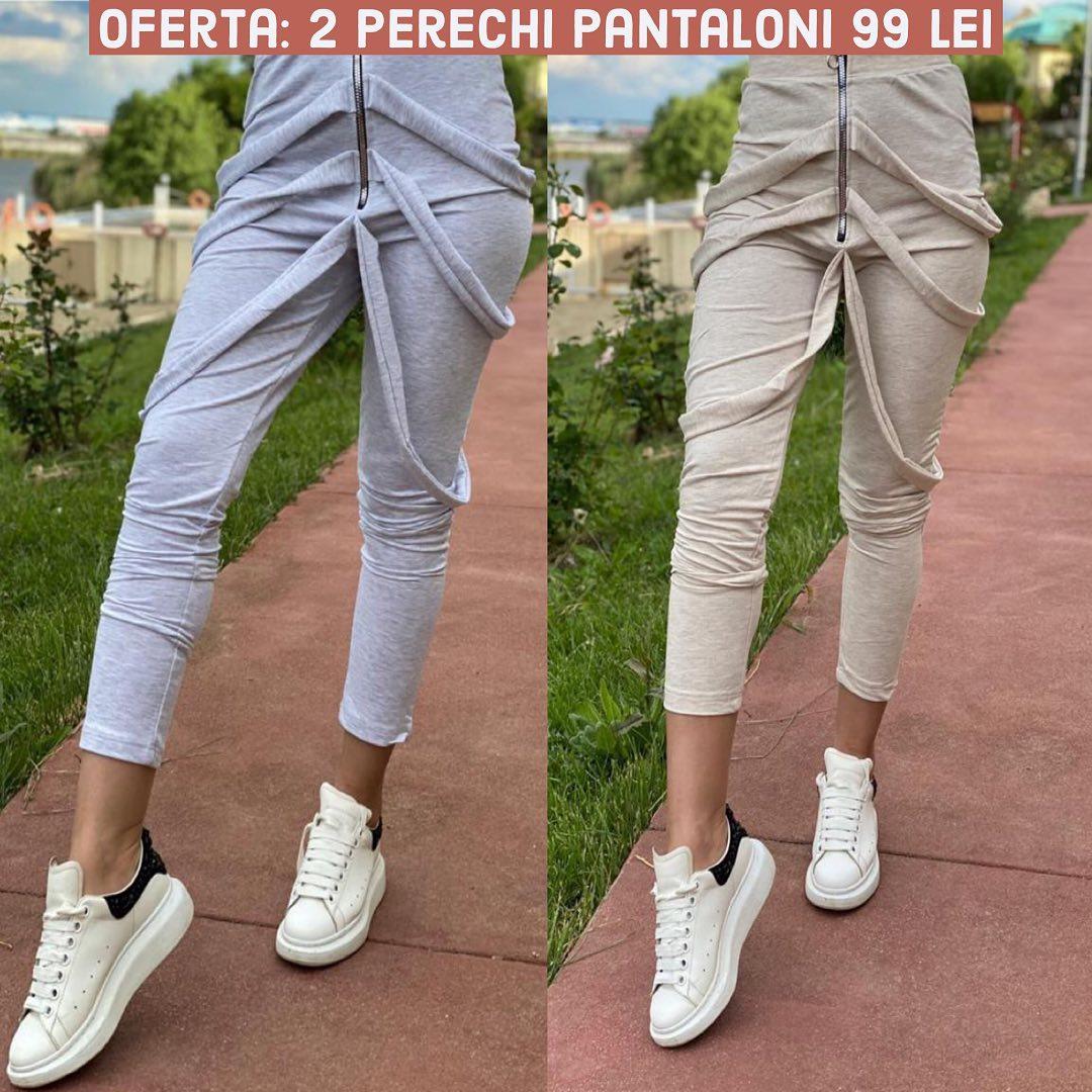 ☀️ Vara vine imediat, dar intre timp ai o noua oferta la pantalonii casual, 2 perechi cool la doar 99 lei. #shopping #clothes #women #style #fashion