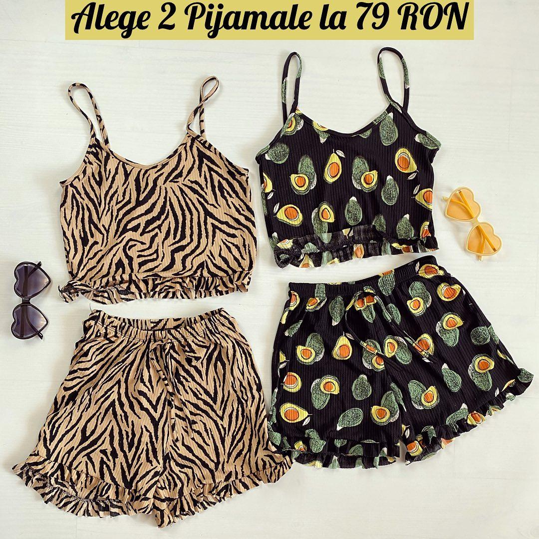 🎈 Pijamale cu modele noi, super dragute si interesante. Avocado, ananas, animal print. 🎈 @maroko.ro #onlineshopping